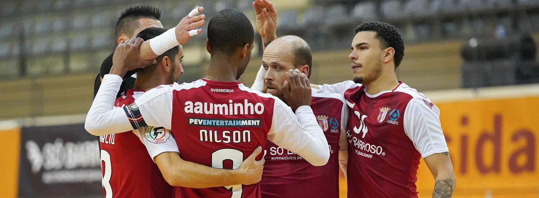 Futsal do SC Braga soma terceiro triunfo consecutivo