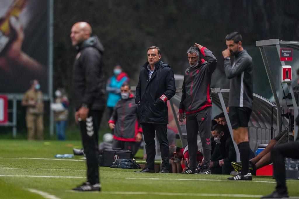 """Carlos Carvalhal: """"Os nossos jogadores foram inexcedíveis"""" 2"""