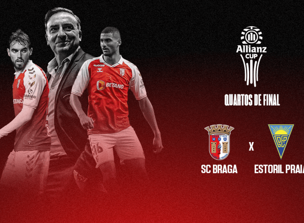 SC Braga defronta Estoril Praia nos oitavos da Taça da Liga