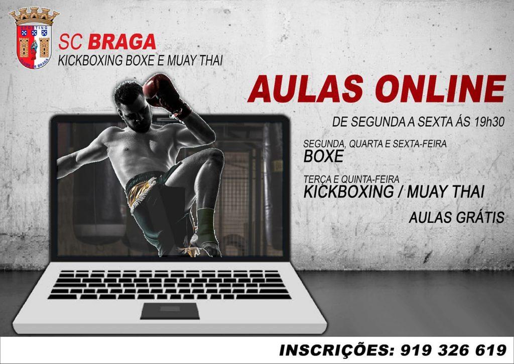 Aulas online - Secção de Kickboxing, Boxe e Muay Thai