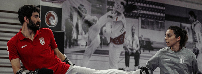 Joana Cunha e Júlio Ferreira em ação no Open de Sófia 1