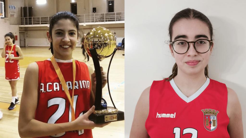 Ana Pinheiro e Mafalda Cunha na Seleção Nacional Sub-16 de basquetebol 2