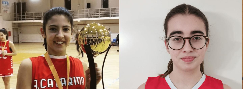 Ana Pinheiro e Mafalda Cunha na Seleção Nacional Sub-16 de basquetebol 1