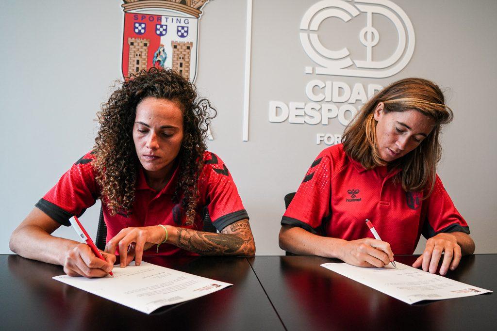 Carolina Mendes e Patrícia Morais são reforços do SC Braga