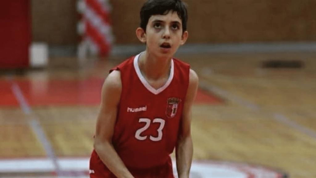 João Almeida na Seleção Nacional Sub-15 de basquetebol