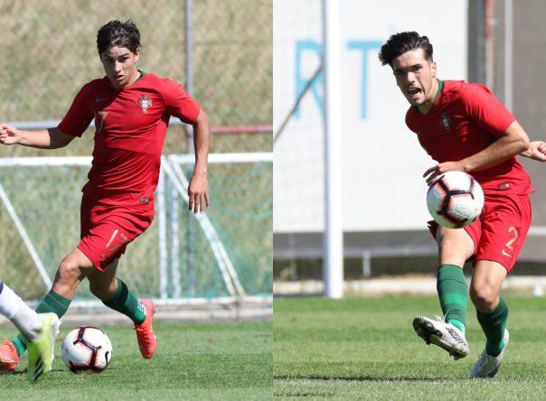 Rodrigo Gomes e André Ferreira em novo triunfo dos Sub-18