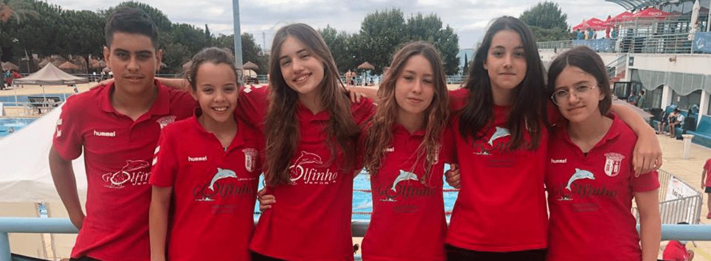Infantis de natação brilham no Campeonato de Portugal em Piscina Longa 1