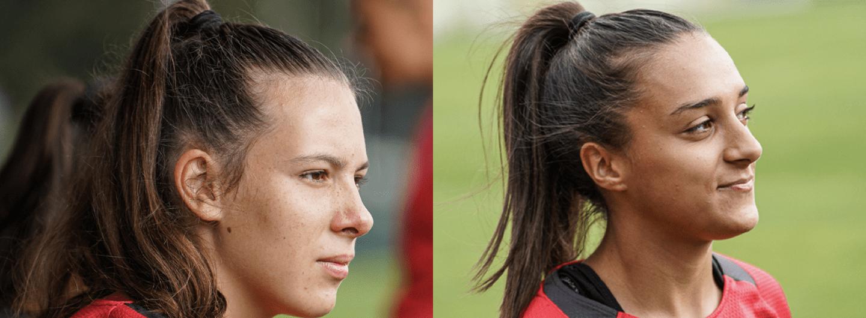 Eduarda Silva e Leonor Freitas na Seleção Nacional Sub-19 2