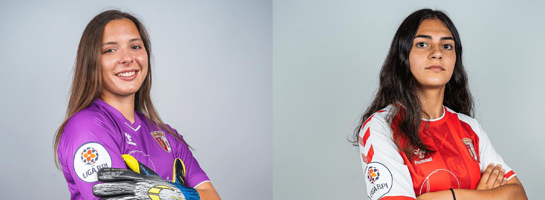 Margarida Rodrigues e Leonor Faria na Seleção Nacional Sub-17 2