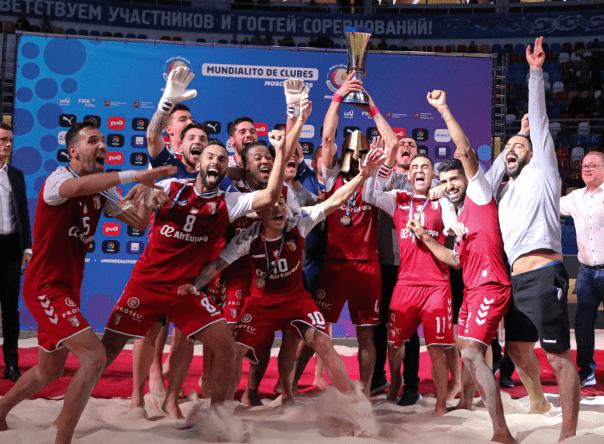 SC Braga no Mundialito de Futebol de Praia 2