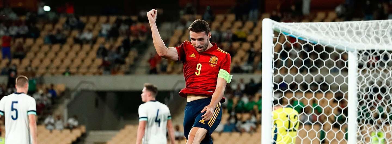 Golo de Abel Ruiz na vitória frente à Irlanda do Norte